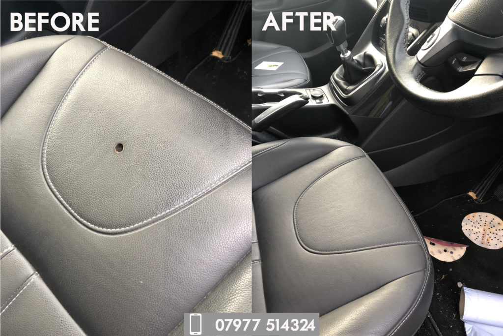 Leather seat burn repair