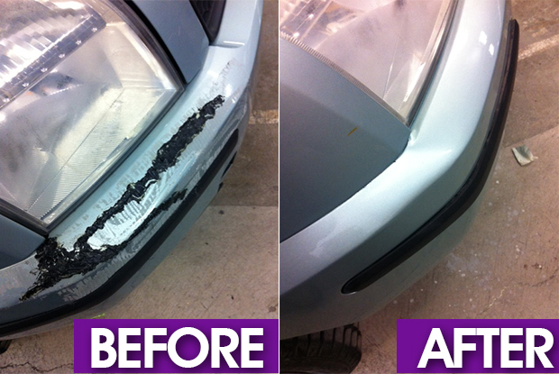 Bumper Repair Swansea before and After image