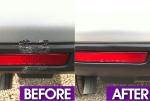 plastic bumper repair before and after