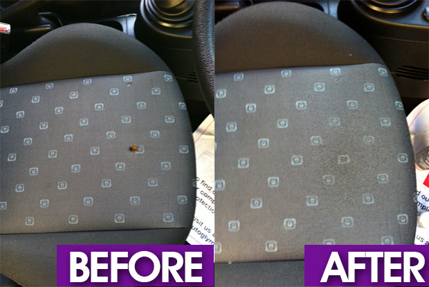 Car cloth seat burn hole repair