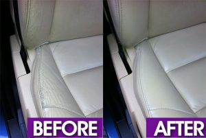 leather seat restoration before and after