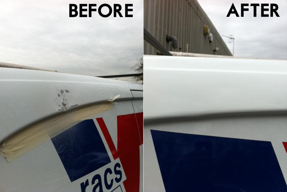 Swansea Van roof paint damage repair